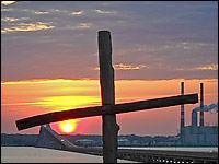 Sunrise Behind Cross